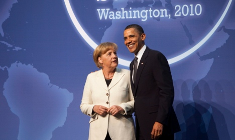 Merkel calls for better laws on nuclear material