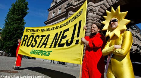 Nuclear vote condemned as activists face trial
