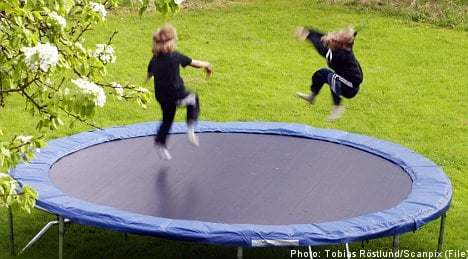 Sweden sees giant leap in trampoline accidents