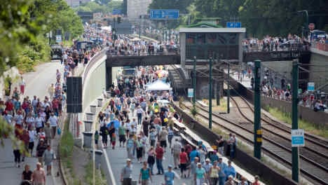 Ruhr autobahn turned into culture strip