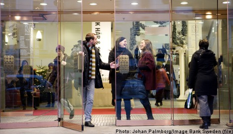 Foreign tourists boost Swedish retail sales