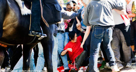 Left leader condemns attack on far-right