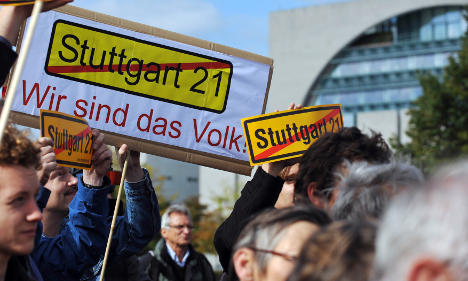 Greens call for national Stuttgart 21 protests