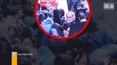 Blinded Stuttgart protestor threw objects at police, video reveals