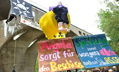 Nuclear power protestors mobilize around Germany