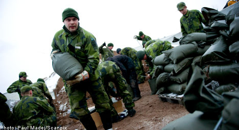 Swedish military called in to battle winter storm