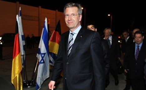 President Wulff makes first trip to Israel