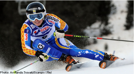 Swedish skier sets pace in alpine World Cup