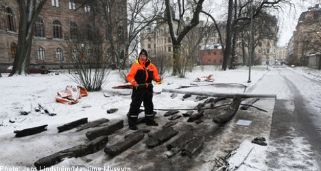 Mystery shipwreck found in central Stockholm
