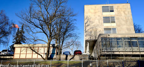 US tightens security at Stockholm embassy