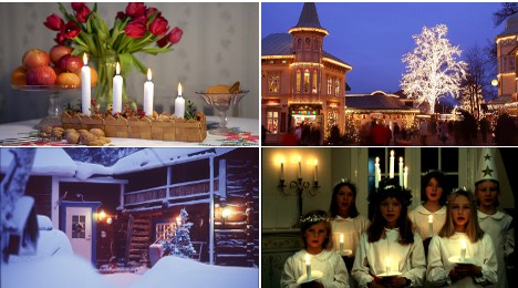 As darkness falls, Swedes celebrate light