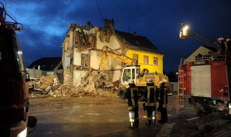 Three dead after blast destroys home