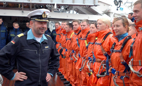 Gorch Fock captain used ship to water ski