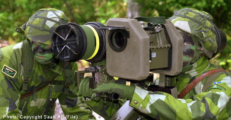 Swedish arms exports increase in 2010