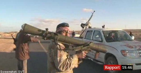 Swedish weapons used by Libyan rebels: report