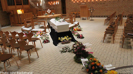 Online funerals ruled in breach of Swedish law