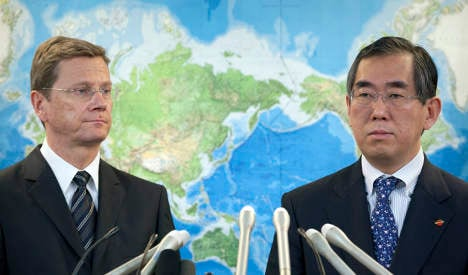 Westerwelle visits Japan while FDP crisis continues at home