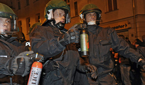 Riot police attack undercover cops at May Day protest