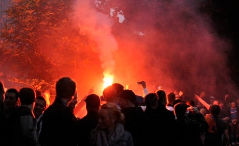 Facebook-posted party turns into riot
