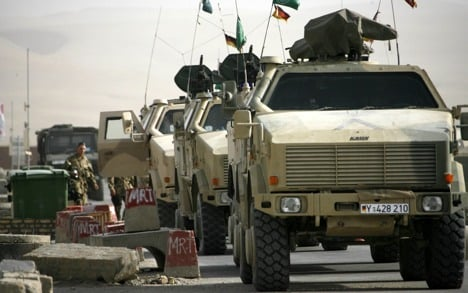 Bundeswehr convoy attacked by Taliban