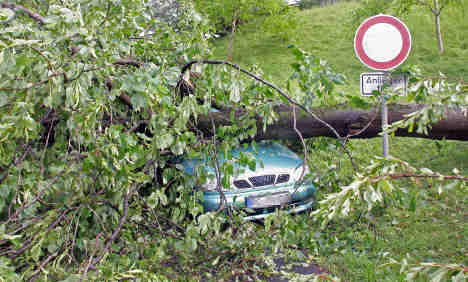Two killed as storm front batters Germany