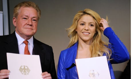 Shakira gets German support for her charity