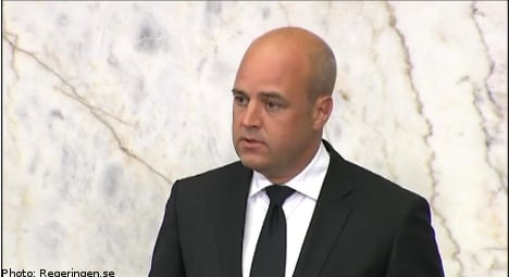 """""""Our thoughts are with Norway"""": Reinfeldt"""