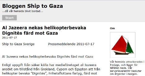 Ship to Gaza hit by cyber attack