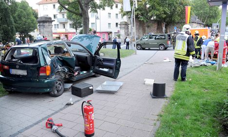 UK soldiers in Paderborn hit by car killing one