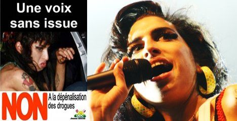 Outcry over Amy Winehouse drugs poster