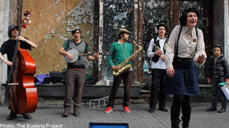 'The Busking Project' stops by Stockholm