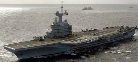 France withdraws carrier from Libya mission