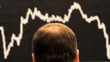 Stocks gyrate wildly as markets remain skittish