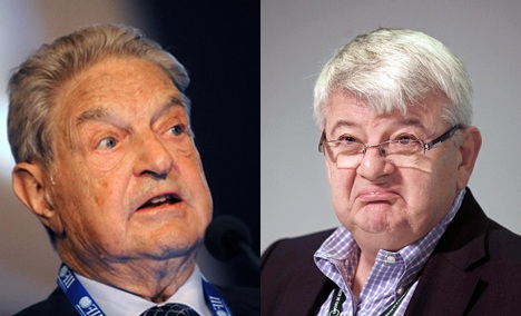 Chinese paper confuses George Soros with Joschka Fischer