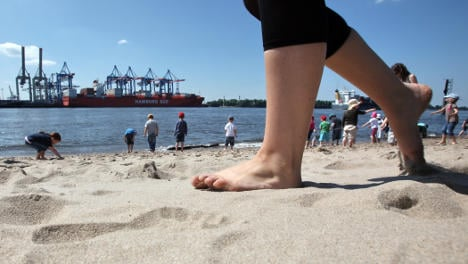 Spending a day at the beach without leaving Hamburg