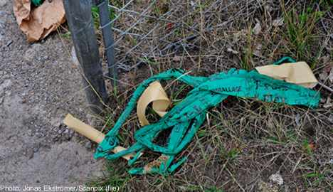 Suspected bomb was pen and green tape