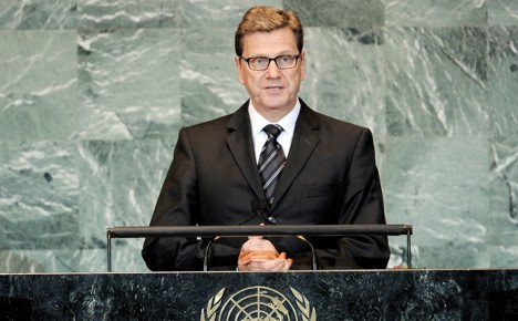 Westerwelle repeats call for Mideast peace