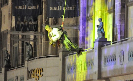 Performer plunges to death at Leipzig festival