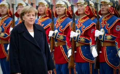 Merkel signs export deal with Mongolia