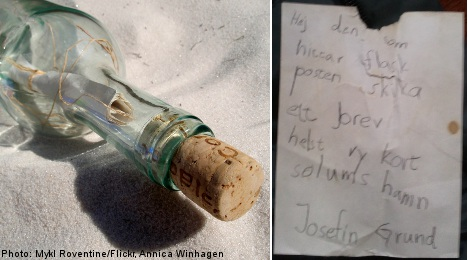 Swedish girl's message in a bottle answered after 22 years