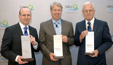 Three honoured with top environmental prize