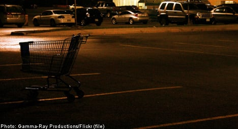 Teenagers saved after shopping cart high jinks