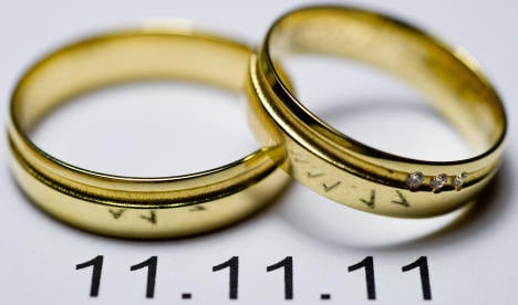 11/11/11 a big day for weddings in Germany
