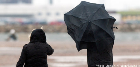 Class 3 warning issued as storms lash Sweden