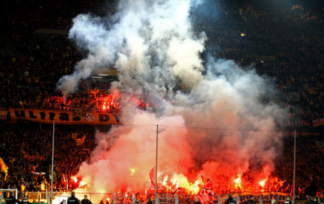 Dynamo Dresden face Cup ban for fan violence