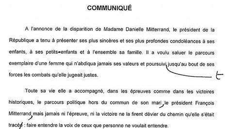 President's office red-faced over bad French grammar