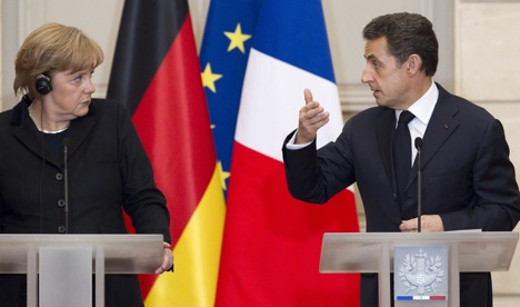 Merkel and Sarkozy call for new euro pact