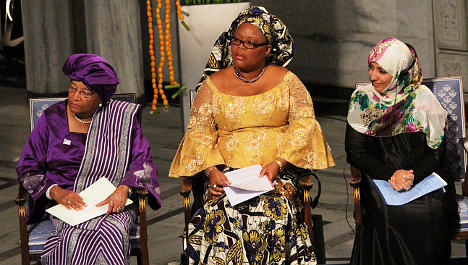 Catalysts for peace: three women get Nobel Prize