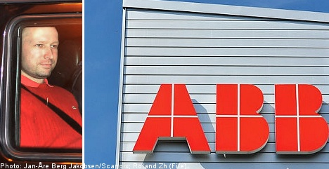 ABB irked by link to Norwegian killer