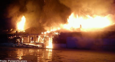 Fire ravages refugee housing facility